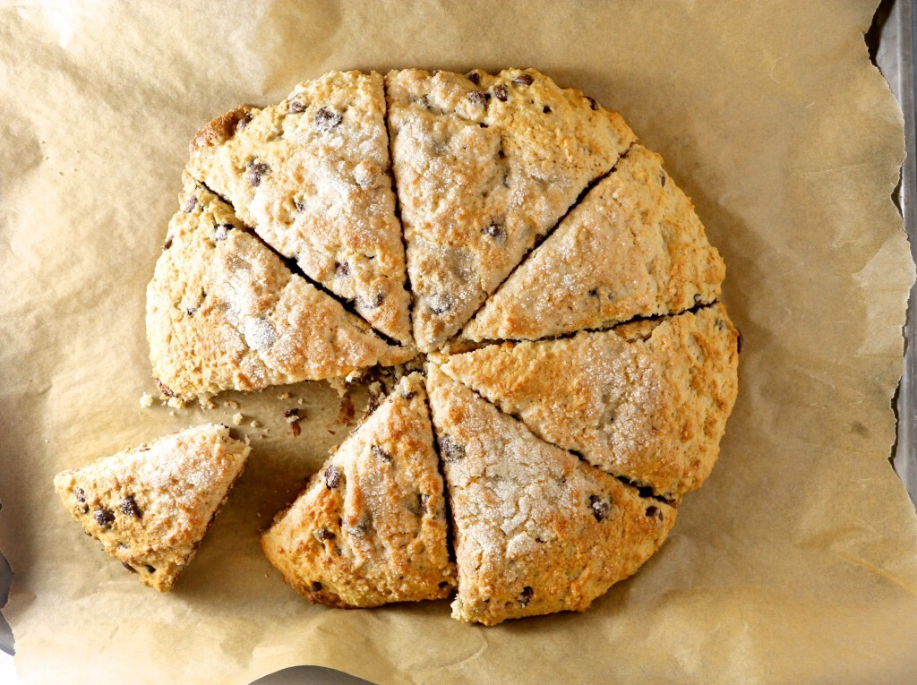 Scones de chocolate chips