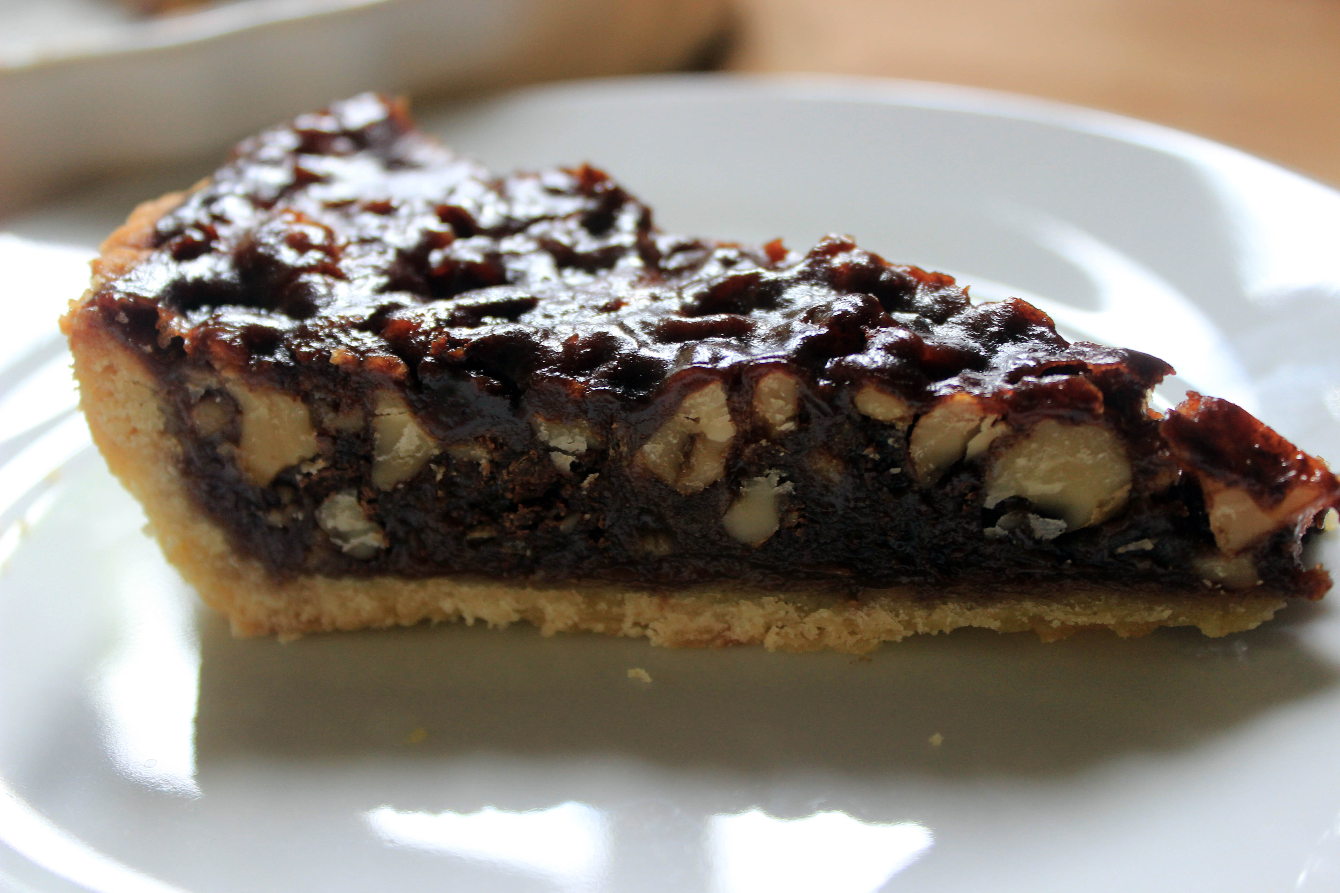 Walnut, Chocolate and Honey Tart