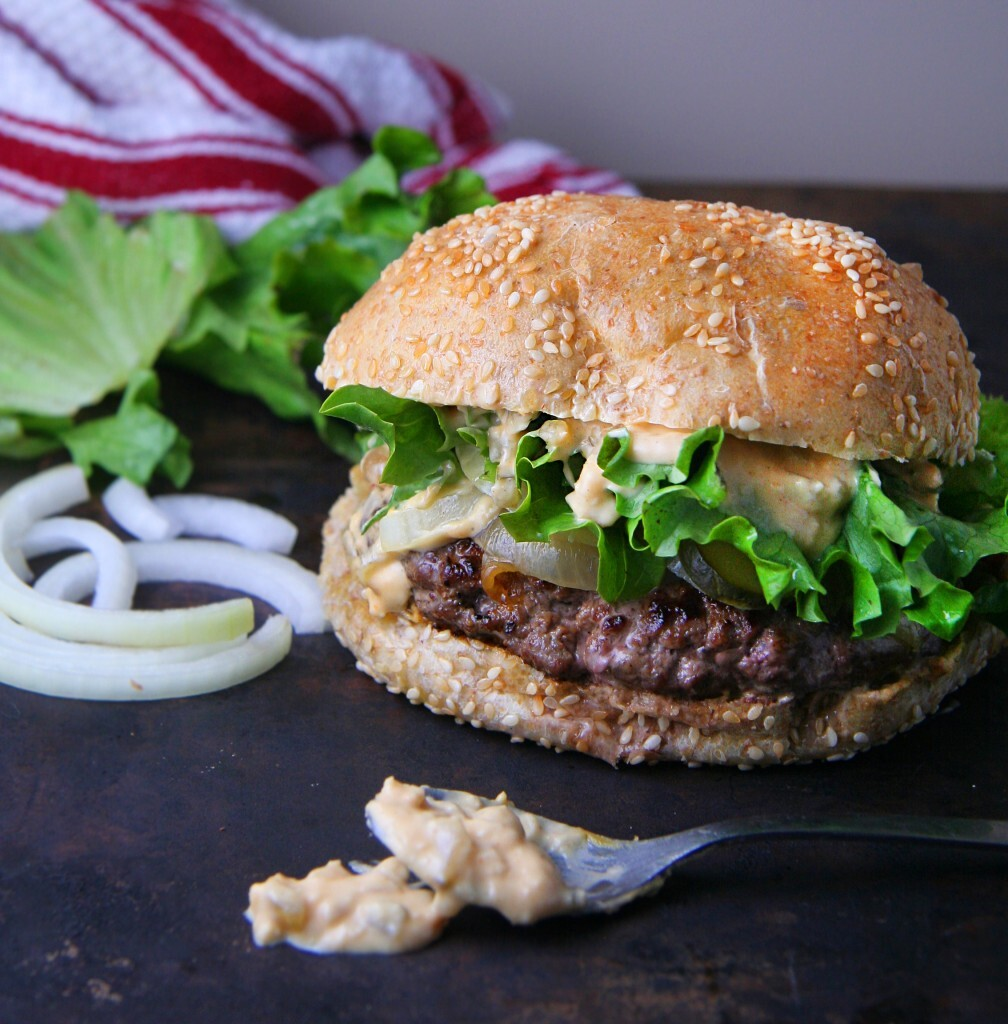 Classic Beef Burgers with Smashing Sauce