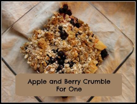 Apple and Berry Crumble for One