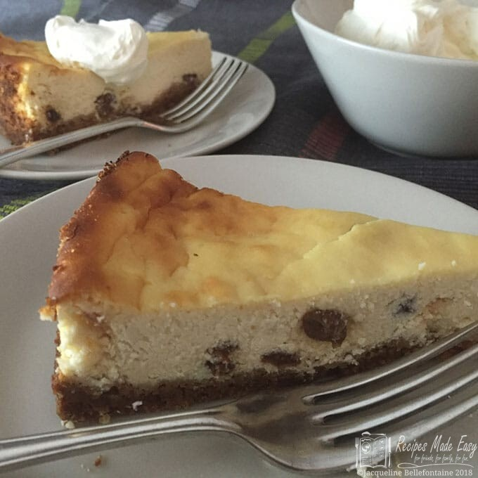 Baked lemon ricotta cheesecake
