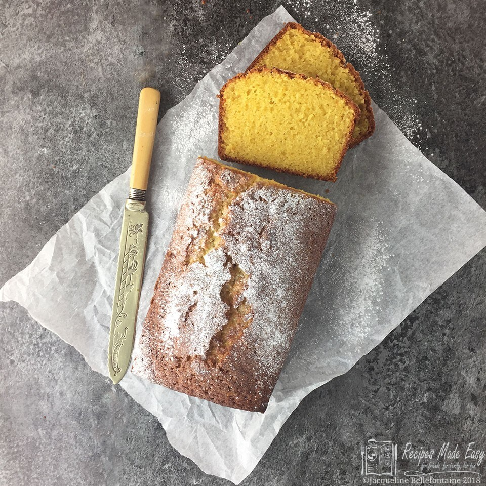 Almond bizcocho (almond and orange loaf cake)
