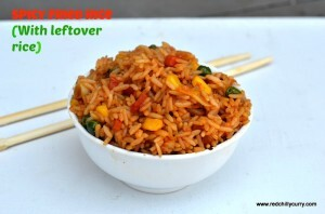 Fried Rice (Spicy version with left over rice)