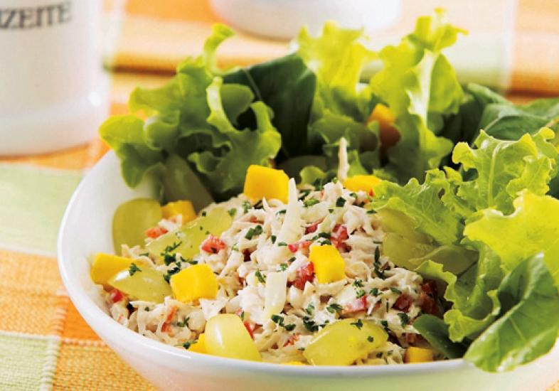 Salada de frango tropical