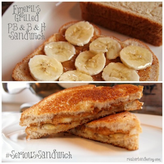 Grilled PB & B & H Sandwiches: #SeriousSandwich #1