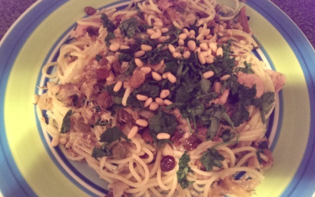 Inspired by Nigella: Mackerel Pasta recipe