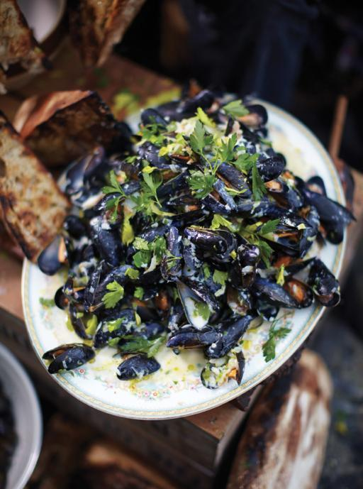 Highland mussels - juicy whisky creamy