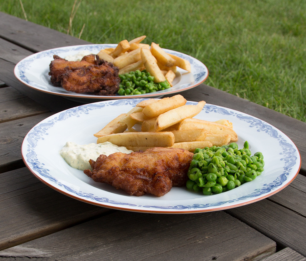 Fish & chips i wokpannan