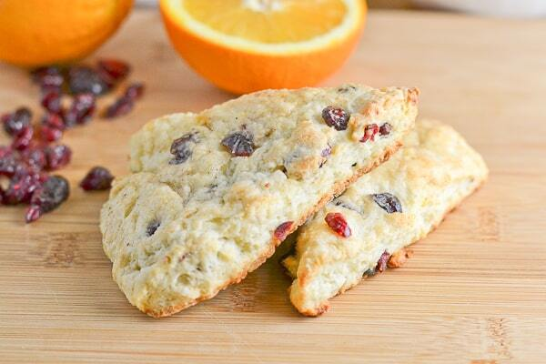 Cranberry Orange Yogurt Scones