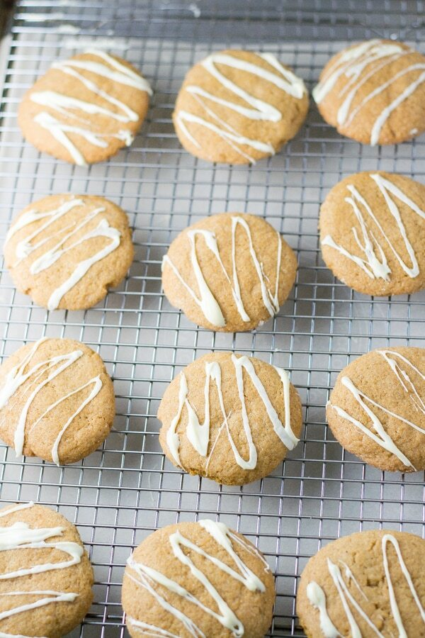Ginger Cookies with White Chocolate Drizzle