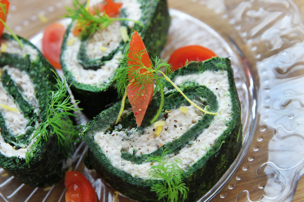 Tunroulade med Spinat