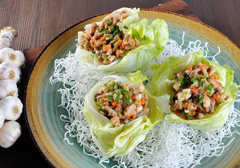 Bangus Asian Salad in Lettuce Cups