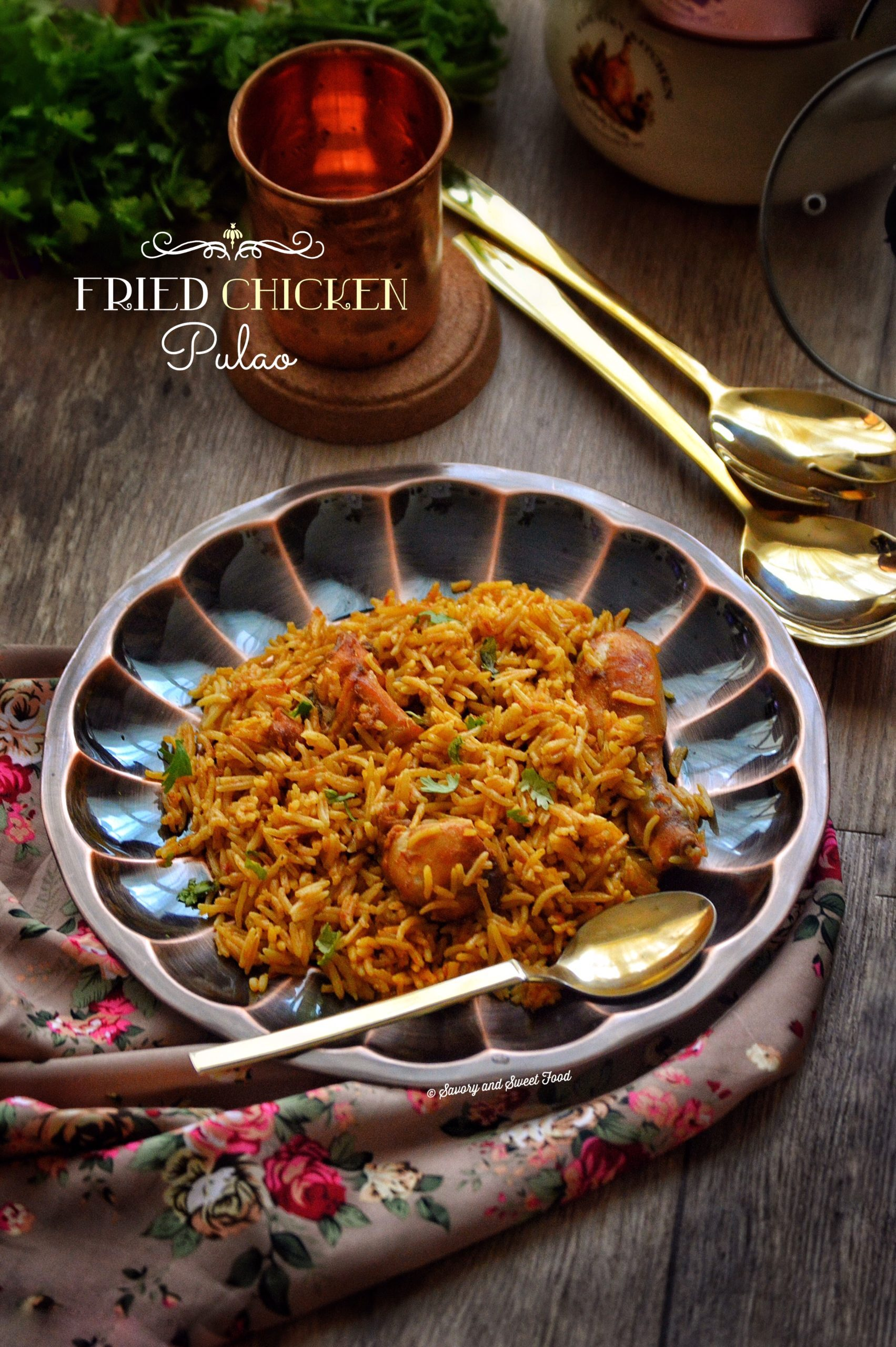 Fried Chicken Pulao
