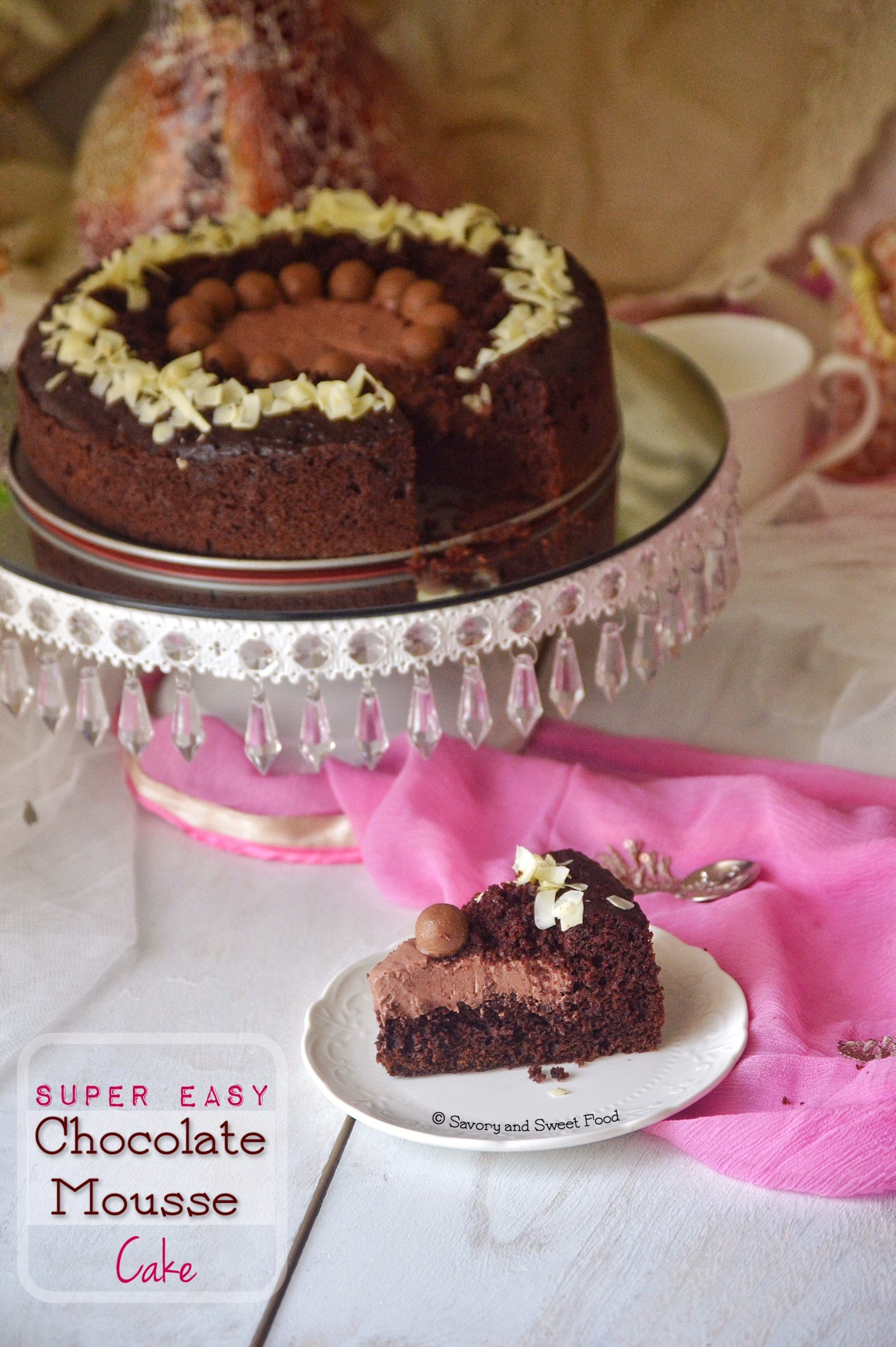 Super Easy Chocolate Mousse Cake