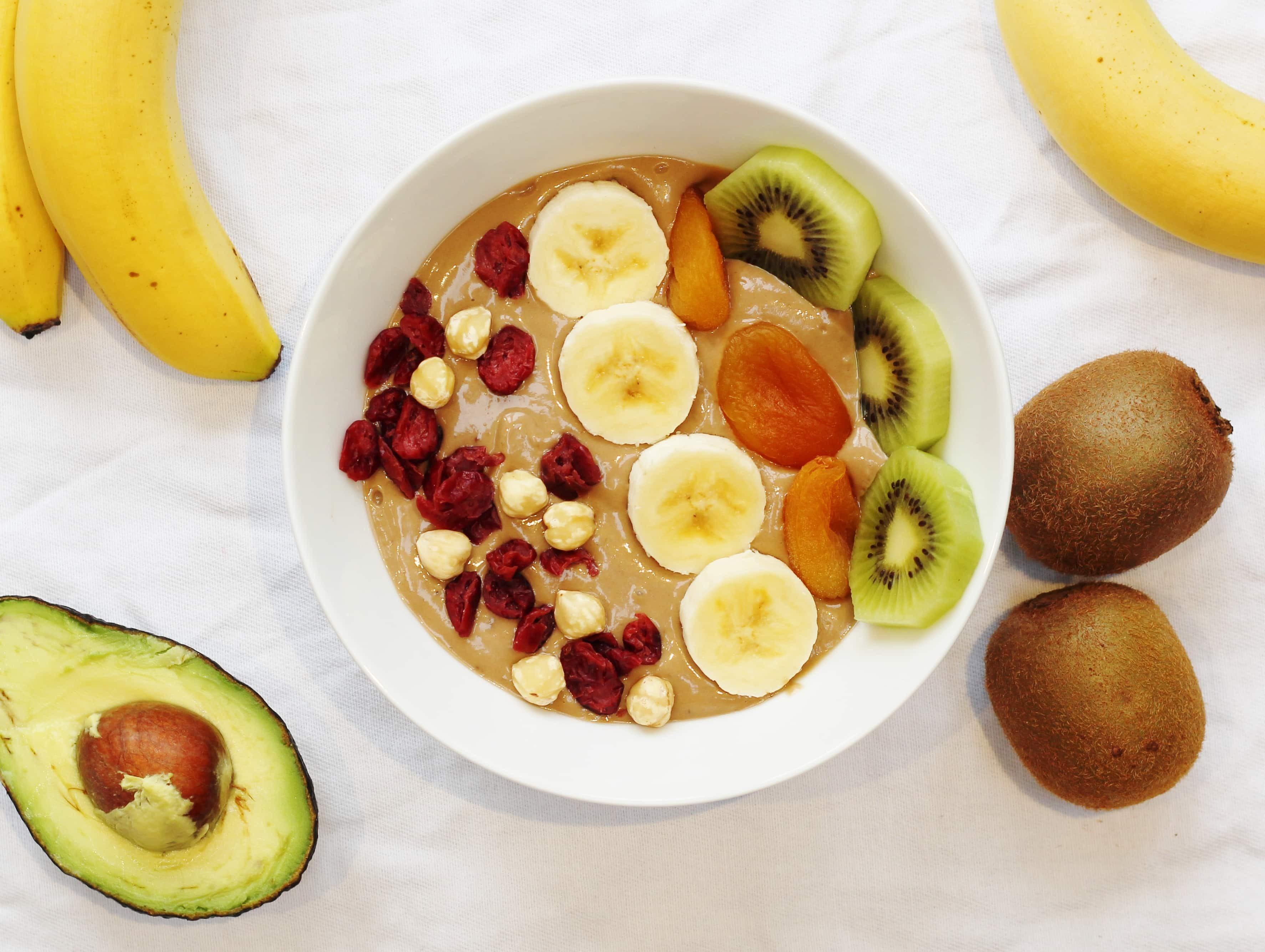 Nutella Smoothie Bowl with Banana and Avocado