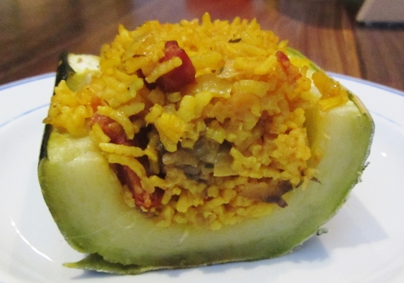 Spanish Rice Stuffed Marrow