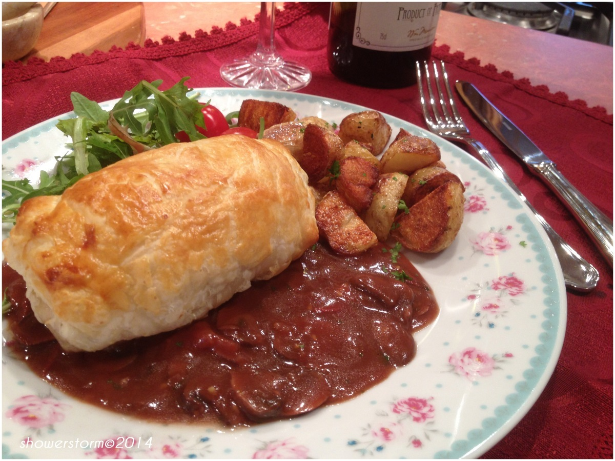 Beef and pate wellington