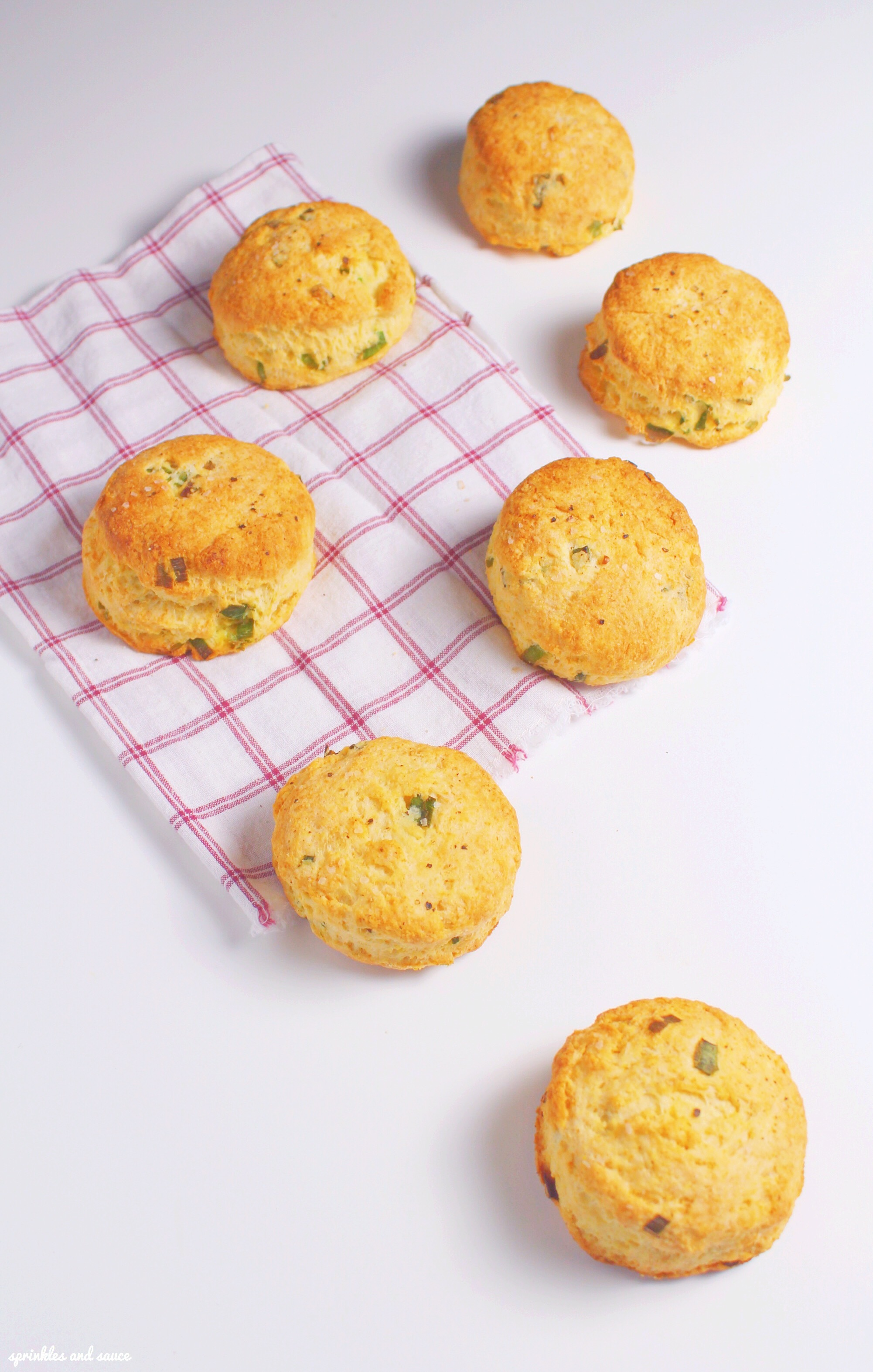 Buttermilk Biscuits with Green Onions, Black Pepper and Sea Salt