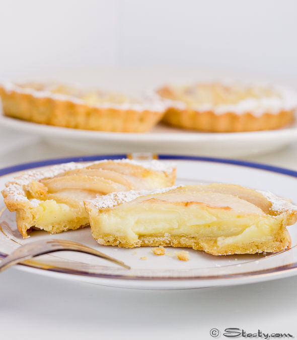 Pear and Custard Tarts