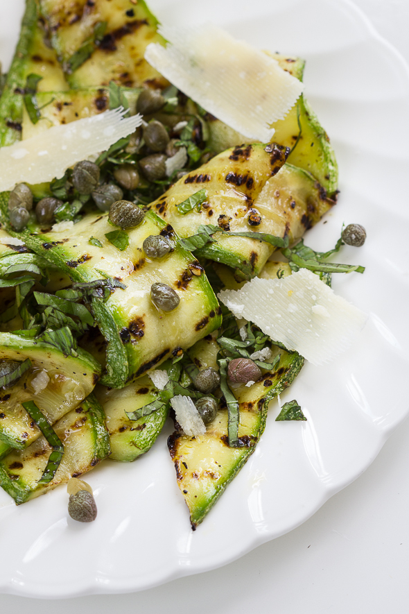 Courgettes with Lemon, Caper Dressing