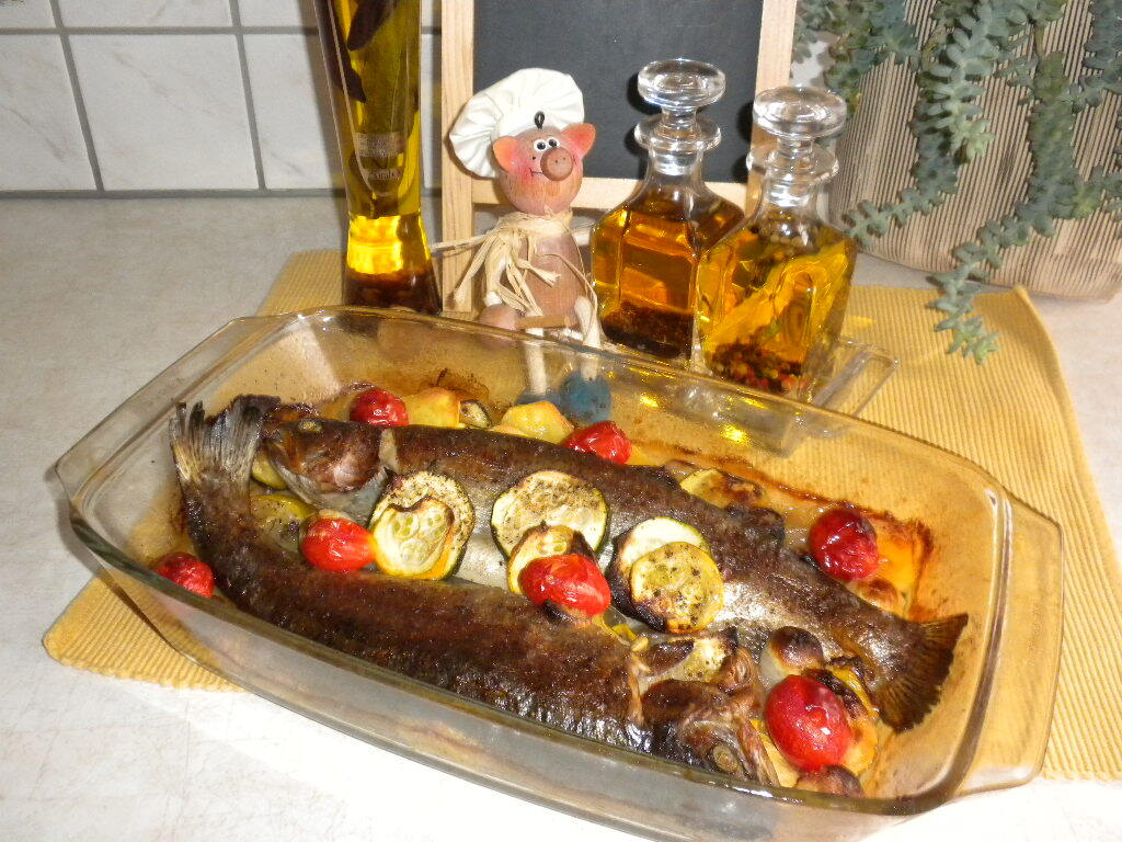Forel in herfstkleuren