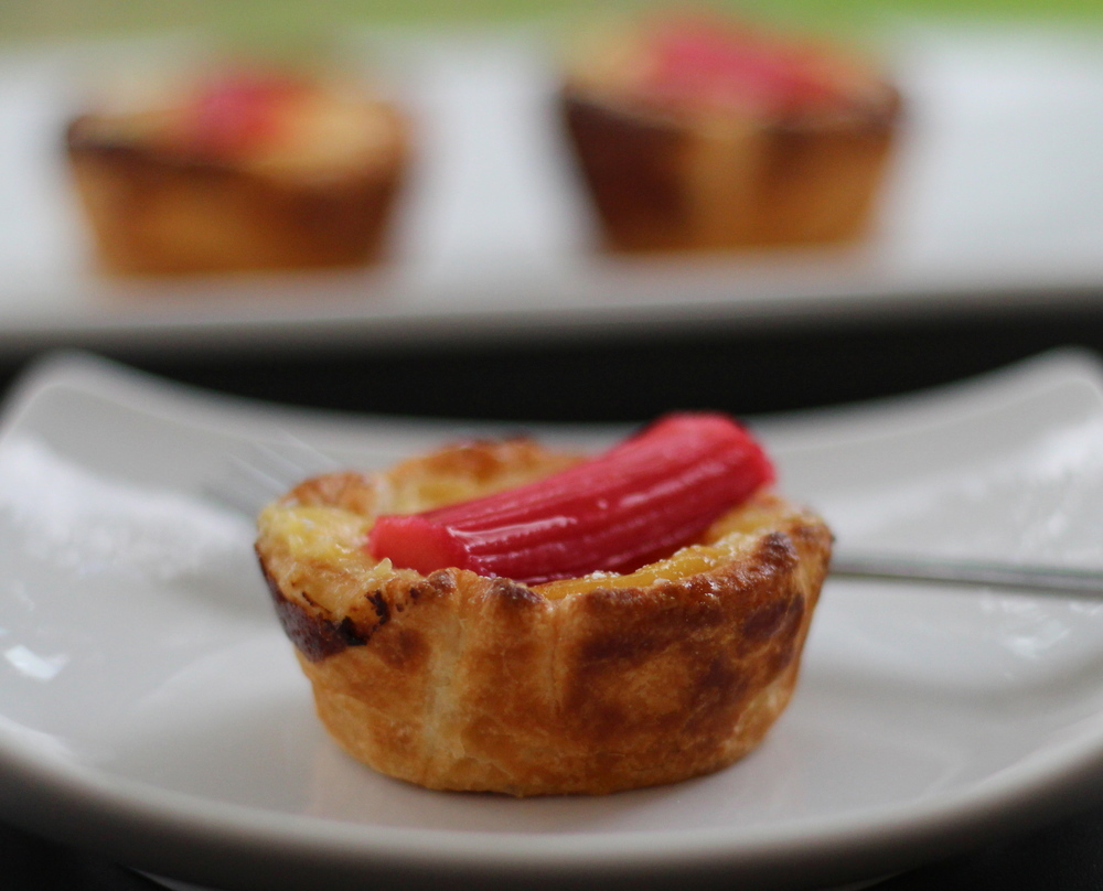 Rhubarb and Custard Tarts
