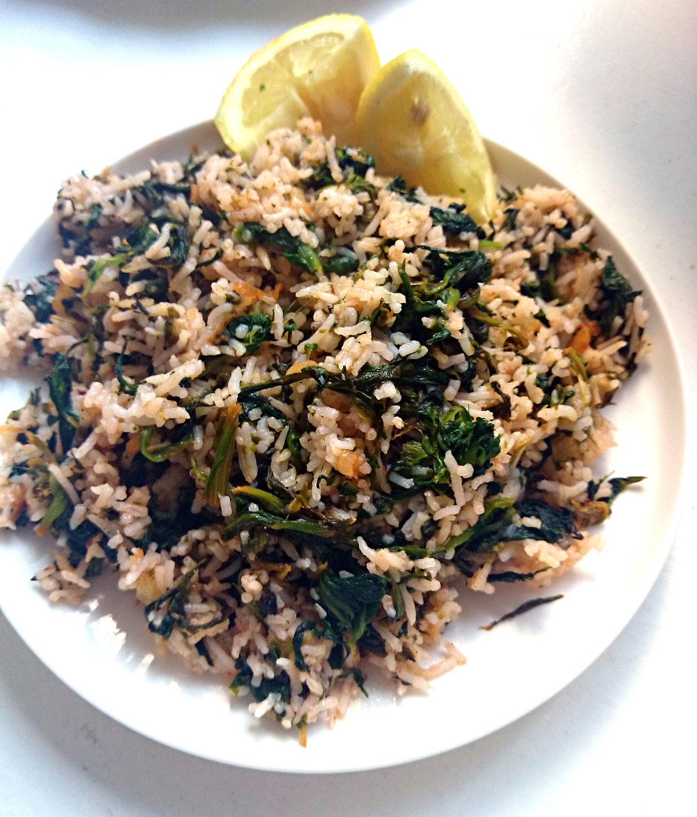 Spinach Rice (Spanakorizo)