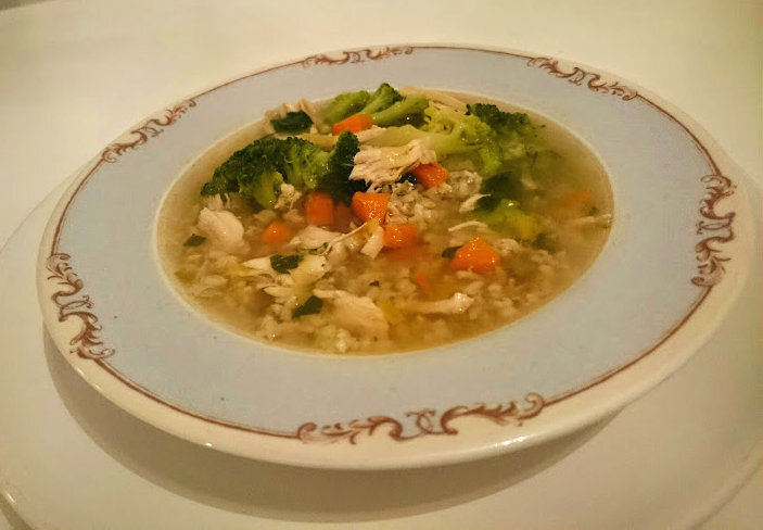 Chicken, Vegetable and Rice Goodness Soup