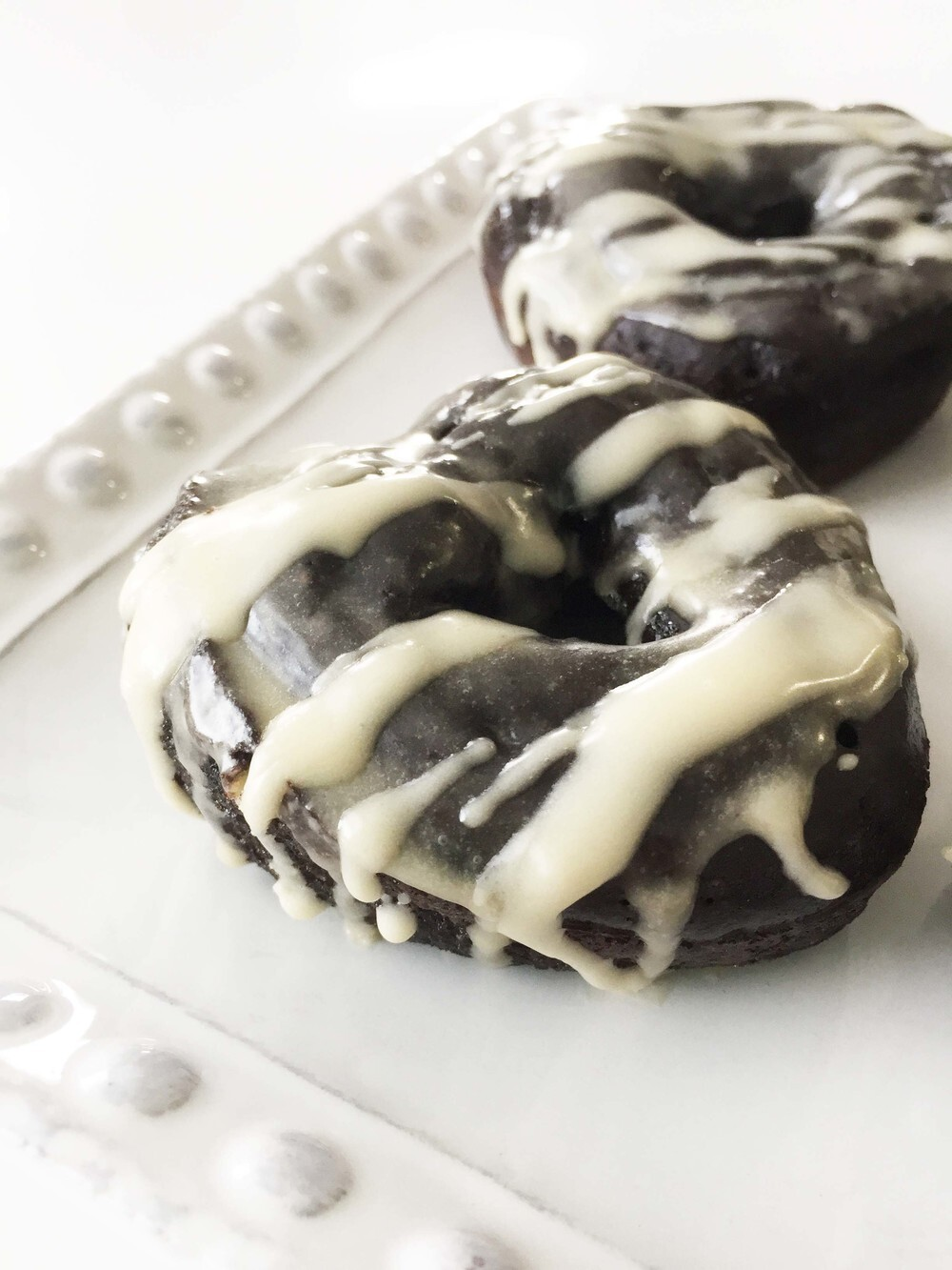 Baked Dark Chocolate Coffee Infused Donuts (Sponsored)