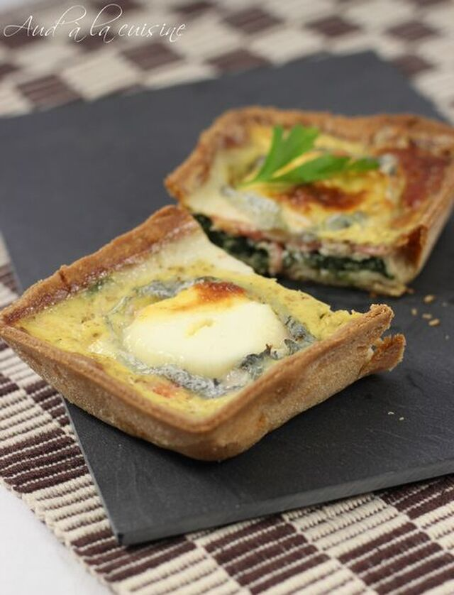 quiche aux pinards saumon ch vre frais recipe from. Black Bedroom Furniture Sets. Home Design Ideas
