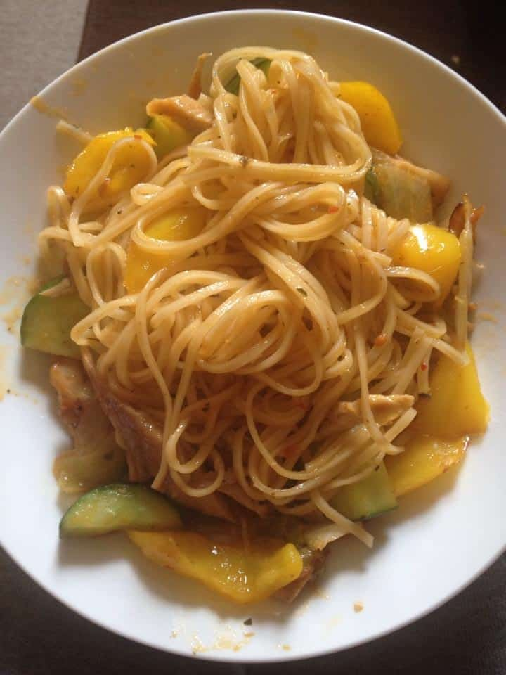 Easy Sweet Chilli Chicken Noodles recipe