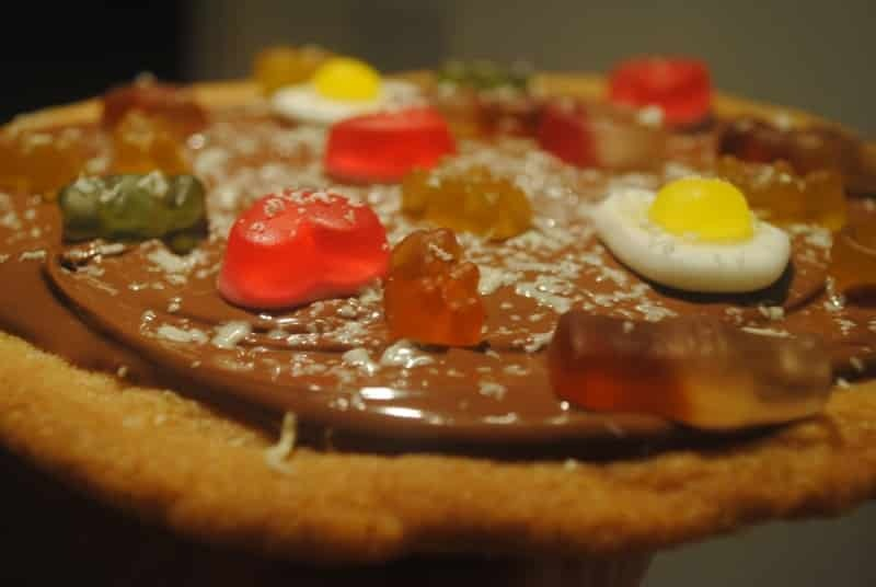 Sweet pizza cookie recipe (egg free!)