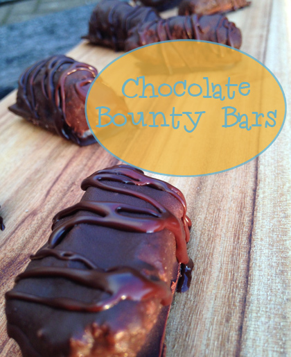 Homemade Chocolate Bounty Bars