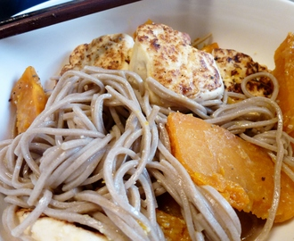 soba noodles with grilled tofu and honey miso roast squash for soba ...