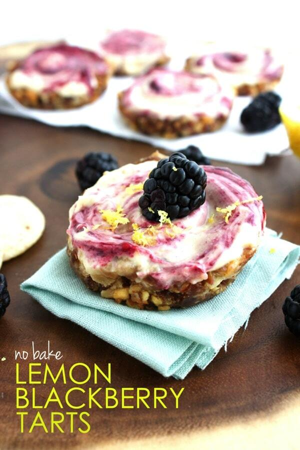 No Bake Lemon Blackberry Tarts