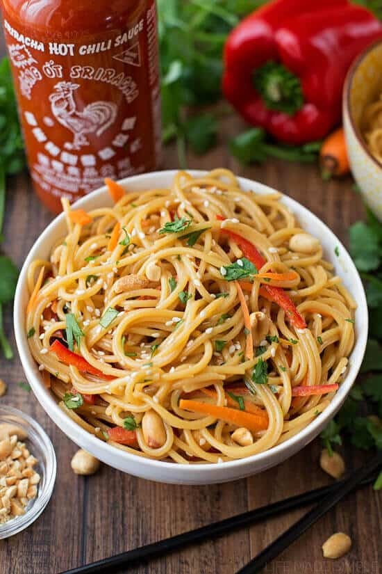 20 Minute Spicy Thai Noodles