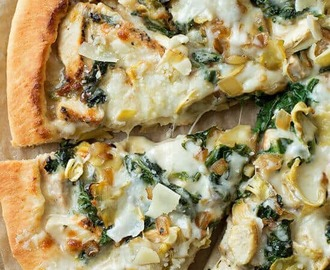 spinach artichoke pizza this spinach artichoke pizza from life made