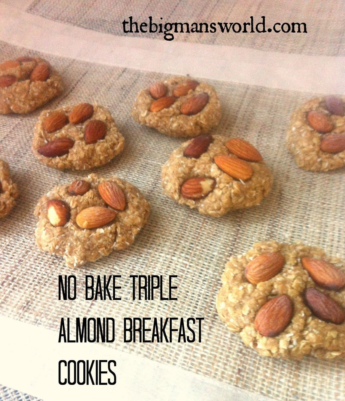 No Bake Triple Almond Breakfast Cookies