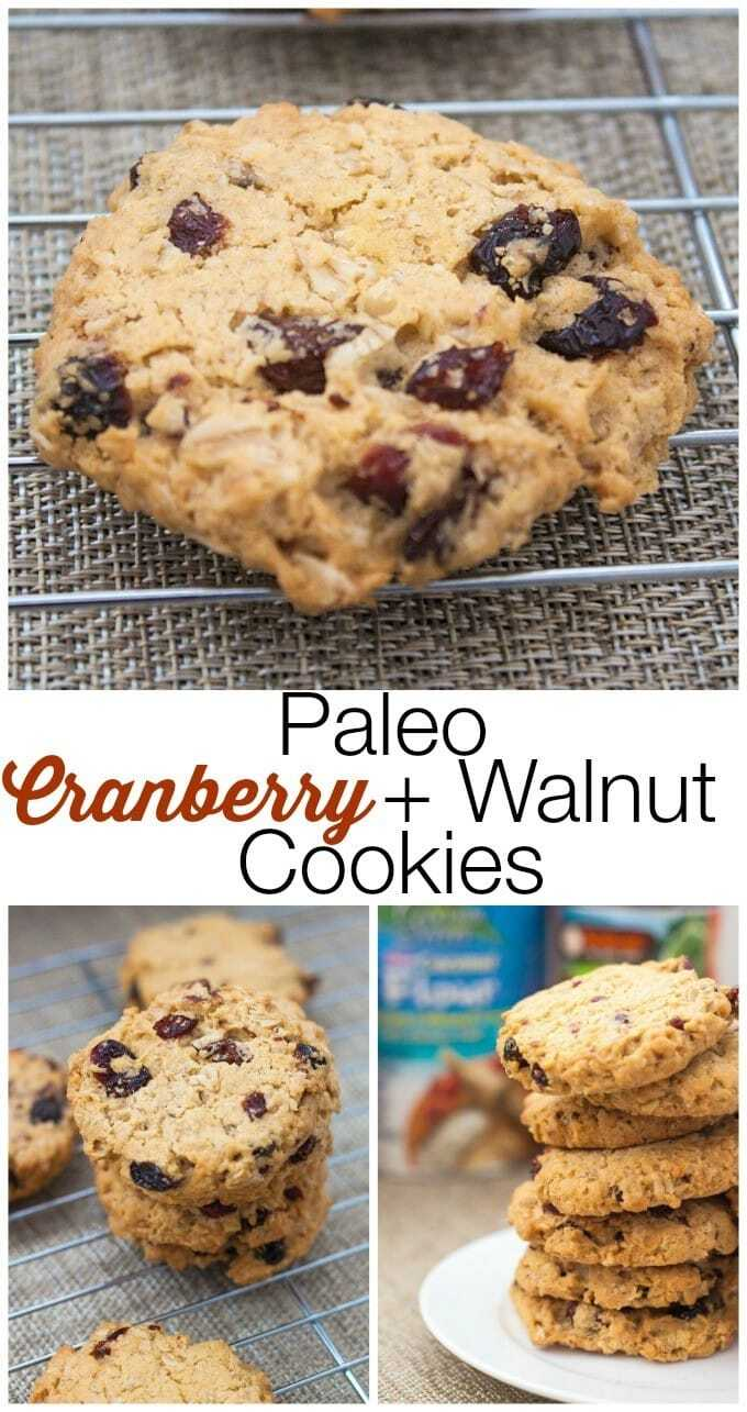 Paleo Cranberry Walnut Cookies