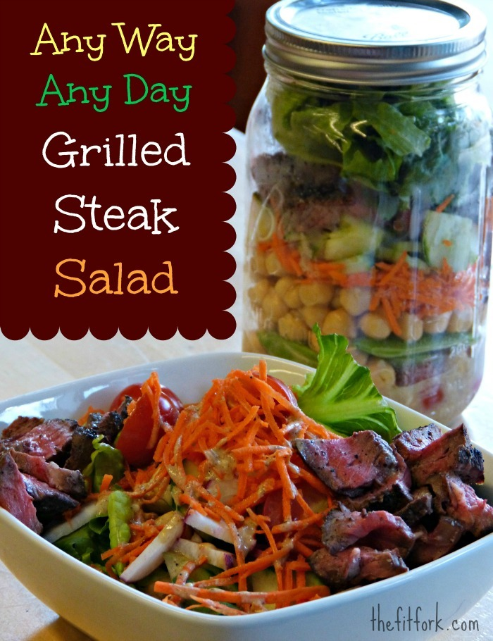 Just Picked Possibilities – Fruit & Veggie Recipes + Grilled Steak Salad