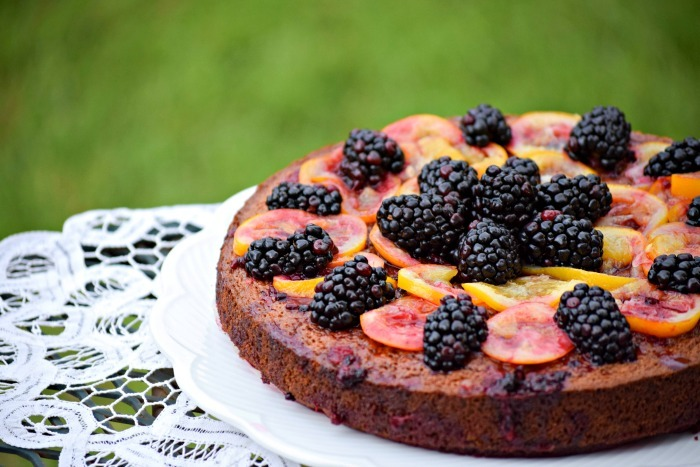 Candied Meyer Lemon Cake with Blackberries – Paleo and Gluten Free Recipe