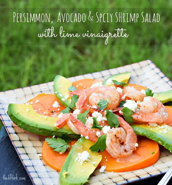 Persimmon Avocado Salad with Chili-dusted Shrimp