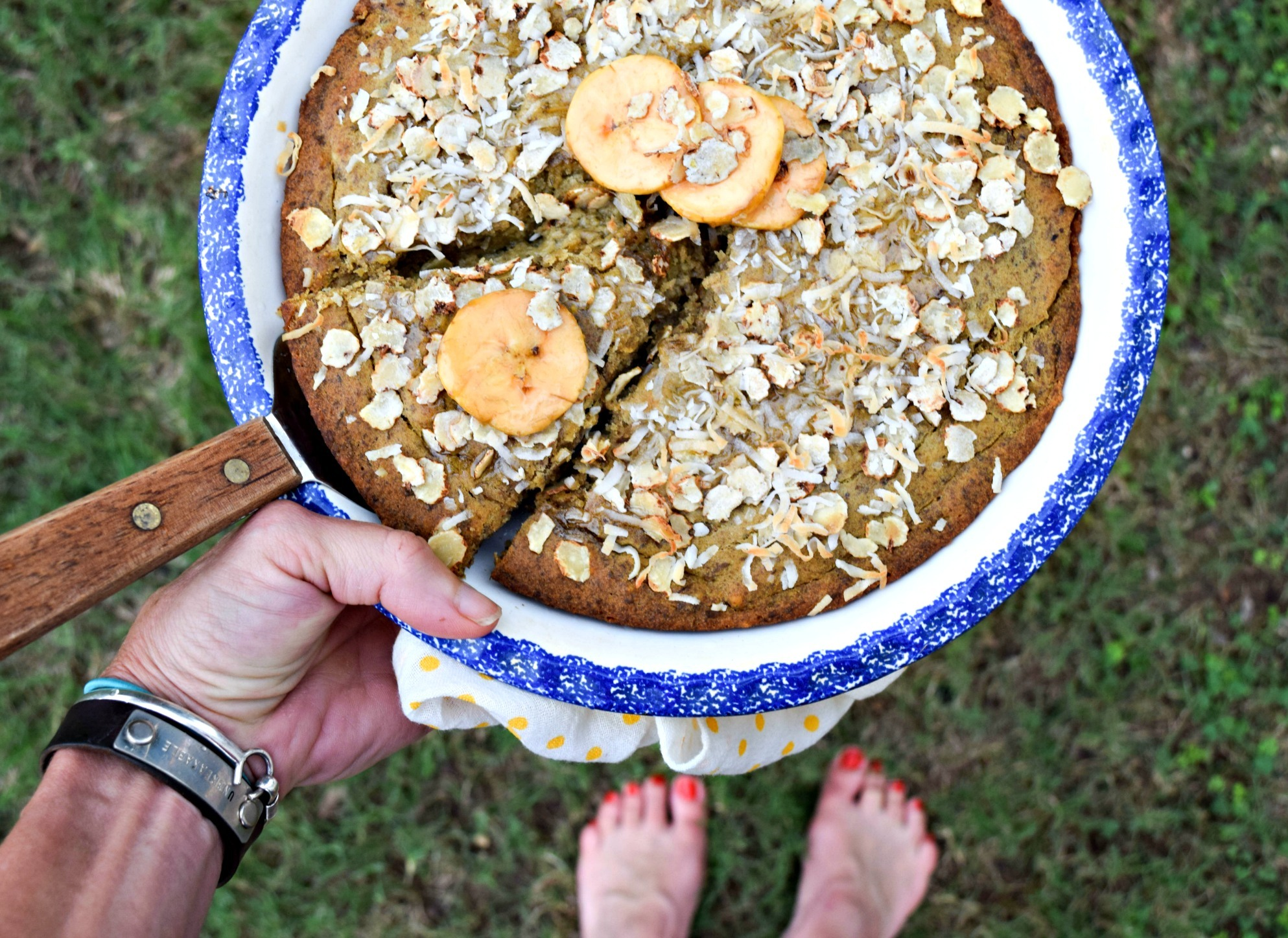 Good Morning! Plantain and Lentil Coffee Cake (gluten free)