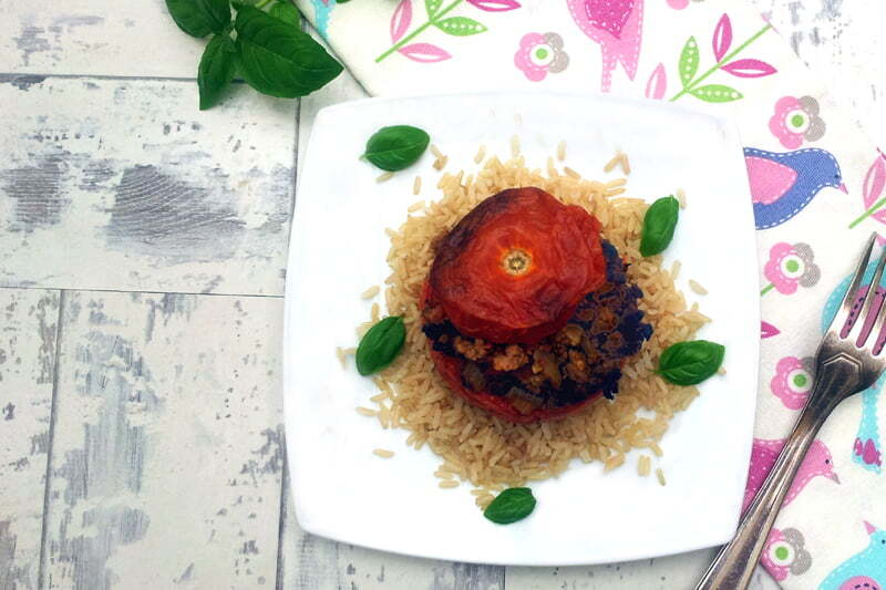 Quorn Stuffed Tomatoes [vegetarian]