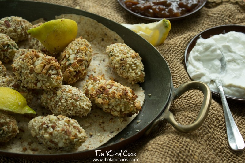 Sesame, Almond and Potato Koftas