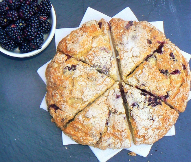 Allotment Week – Vegan Blackberry & Apple Scones