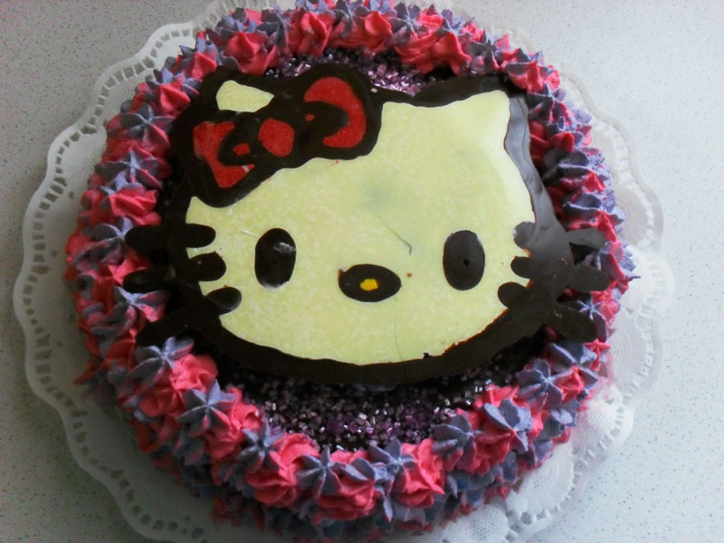 TARTA DE CUMPLEAÑOS HELLO KITTY THERMOMIX Y FUSSIONCOOK TOUCH ADVANCE