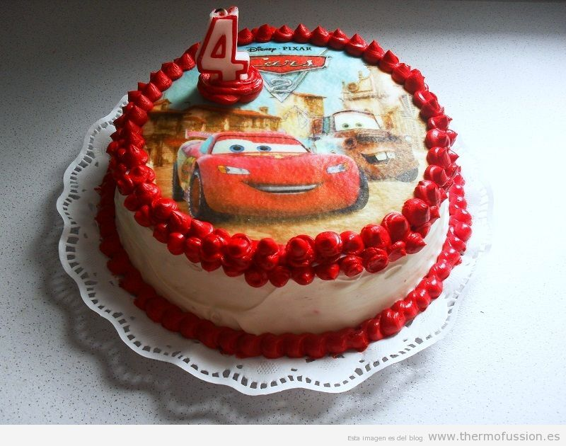 TARTA CUMPLEAÑOS RAYO MCQUEEN (RED VELVET CAKE  THERMOMIX Y FUSSIONCOOK TOUCH ADVANCE)
