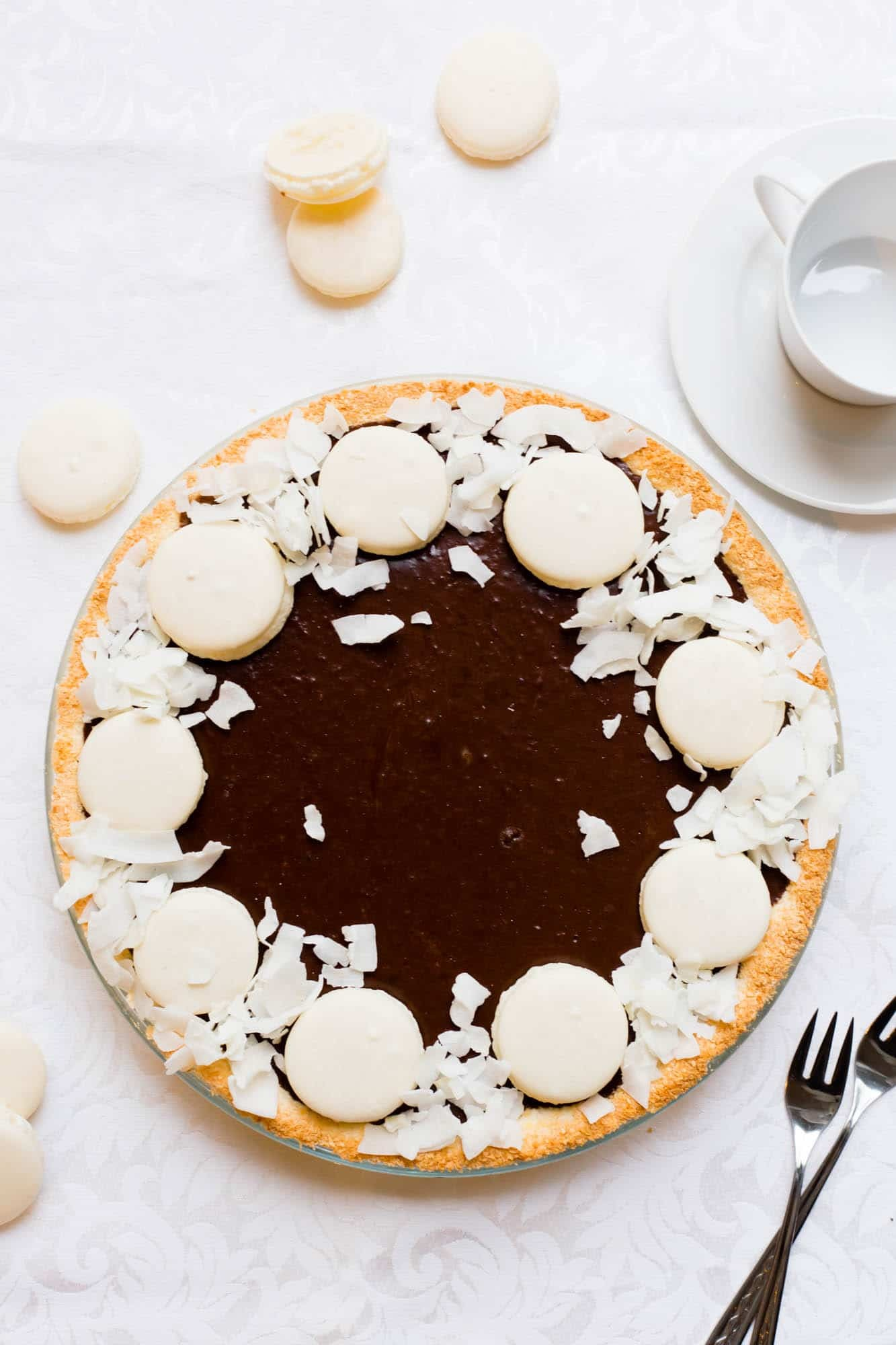 Thermomix Coconut Chocolate Tart
