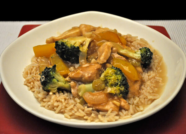 Stir-Fried Chicken with Broccoli and Peppers